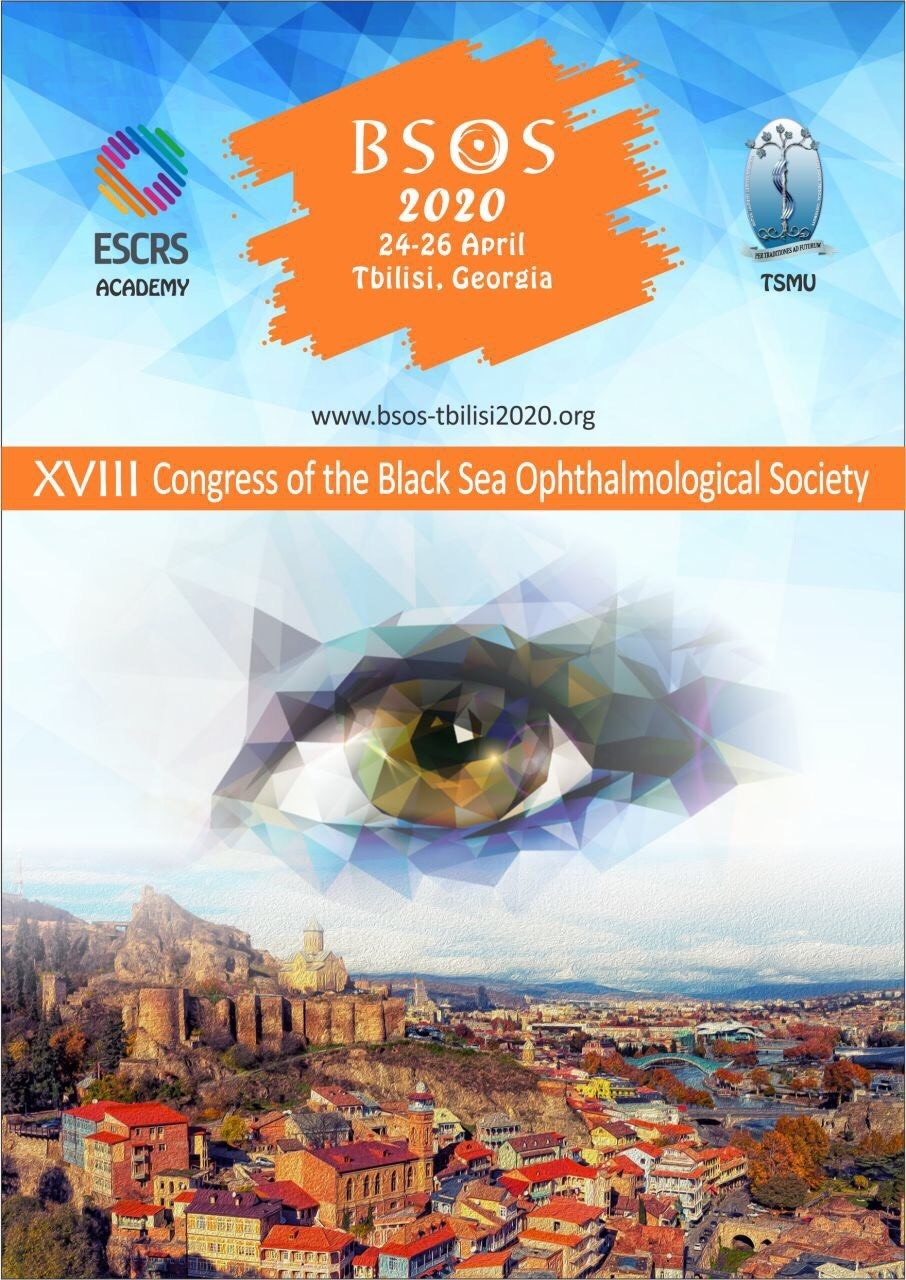 We are very happy and honored to invite you to the 18th Congress of the Black Sea Ophthalmological Society. The event will take place between 24-26 April 2020 at the Tbilisi State University, Tbilisi, Georgia